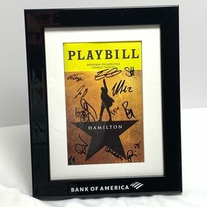 Hamilton Autographed Playbill Broadway Philly
